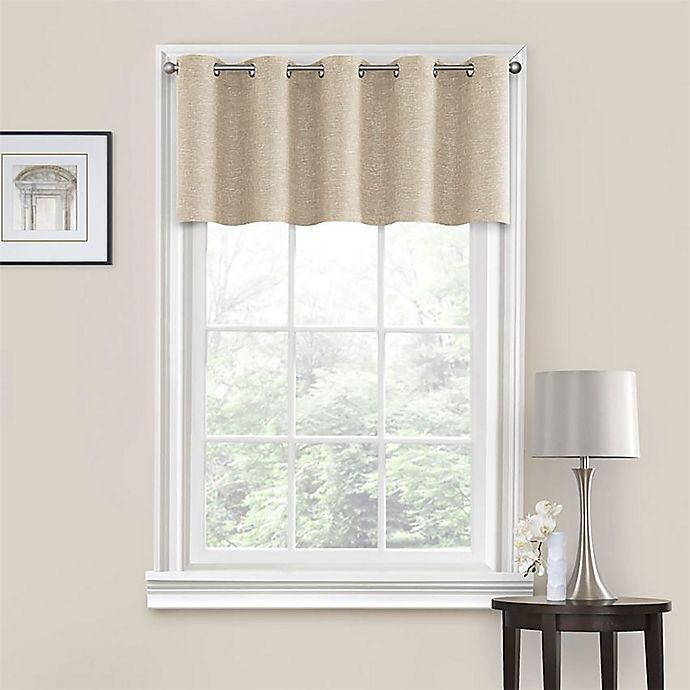 Alternate image 1 for Quinn Grommet Kitchen Window Curtain Tiers and Valance
