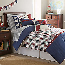 Frank and Lulu Star Spangled Comforter Set in Navy