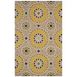 Rizzy Home Bradberry Downs Medallion Rug in Light Gold