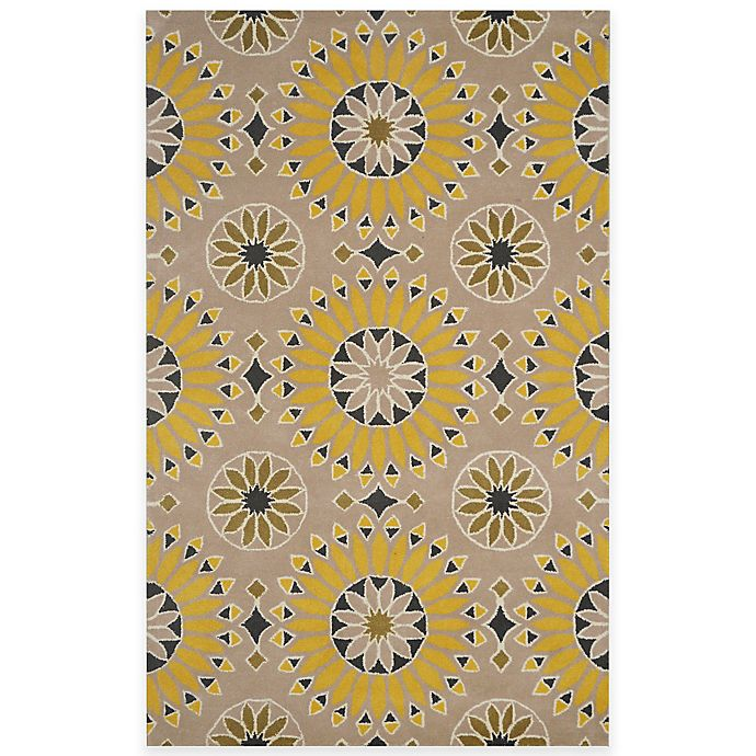 Alternate image 1 for Rizzy Home Bradberry Downs Medallion Rug in Light Gold