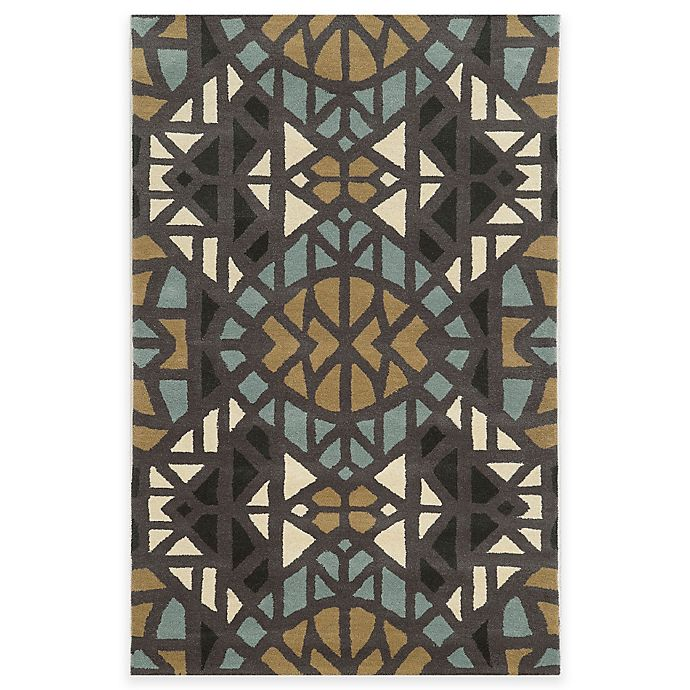 Alternate image 1 for Rizzy Home Bradberry Downs Mosaic Tile 3-Foot x 5-Foot Area Rug in Grey/Blue