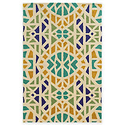 Rizzy Home Bradberry Downs Mosaic Tile Rug in Ivory/Blue or Grey/Blue