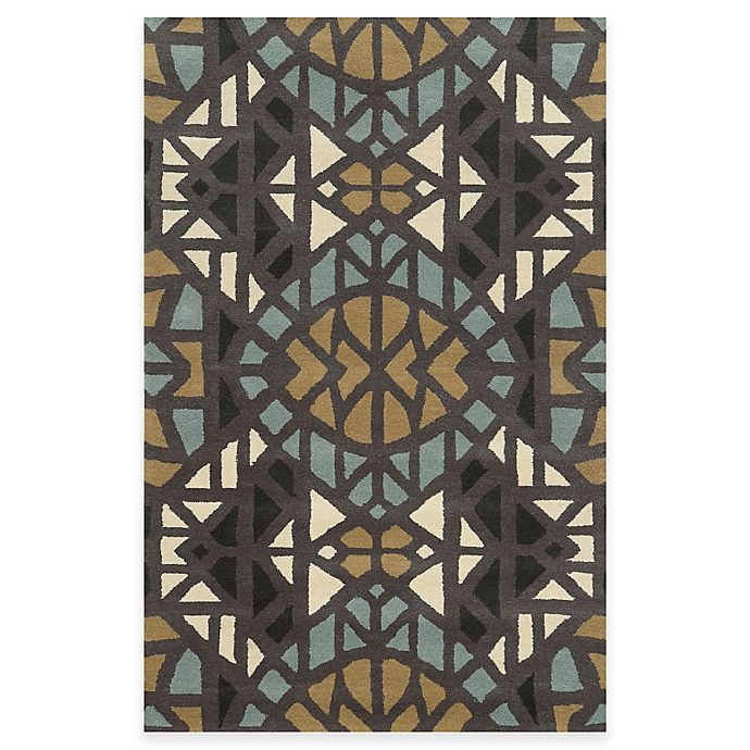 Alternate image 1 for Rizzy Home Bradberry Downs Mosaic Tile 8-Foot x 10-Foot Area Rug in Grey/Blue