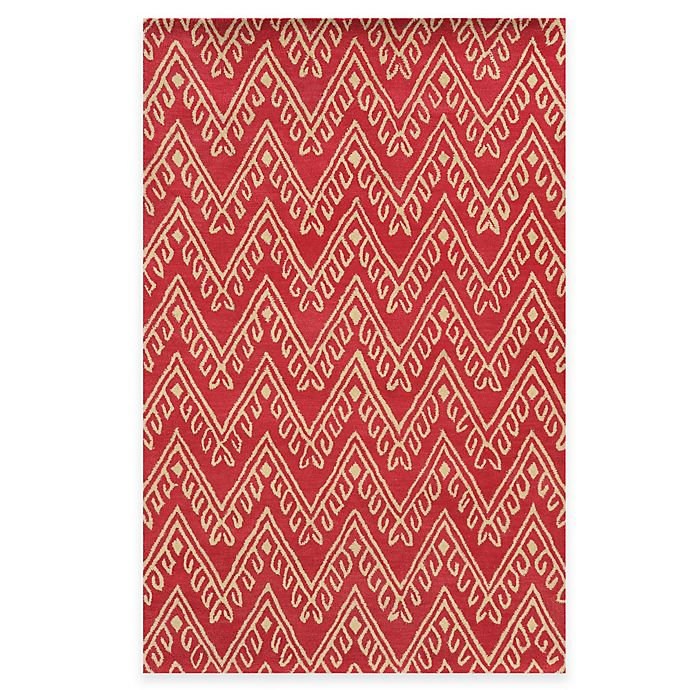 Alternate image 1 for Rizzy Home Bradberry Downs Chevron 2-Foot 6-Inch x 8-Foot Runner in Hot Pink