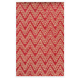 Rizzy Home Bradberry Downs Chevron 2-Foot 6-Inch x 8-Foot Runner in Hot Pink