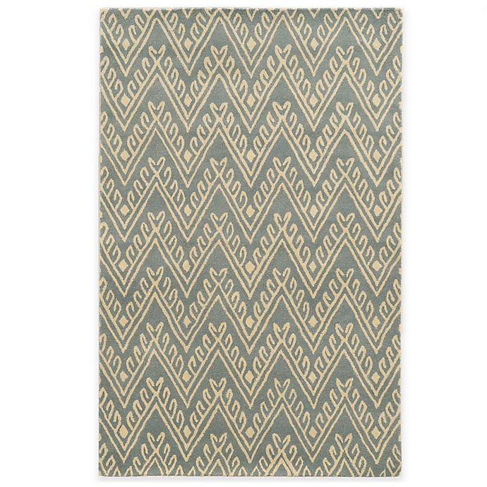 Alternate image 1 for Rizzy Home Bradberry Downs Chevron 2-Foot x 5-Foot Area Rug in Light Grey