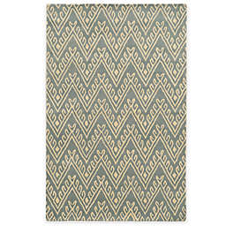 Rizzy Home Bradberry Downs Chevron 2-Foot x 5-Foot Area Rug in Light Grey