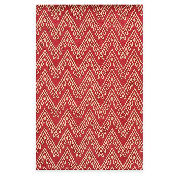 Alternate image 1 for Rizzy Home Bradberry Downs Chevron 8-Foot x 10-Foot Area Rug in Hot Pink