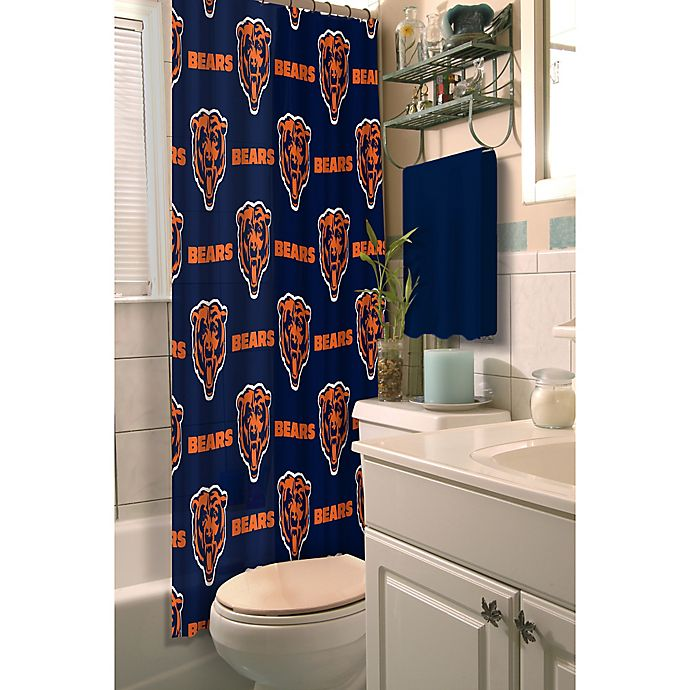 Awesome Nfl Chicago Bears Shower Curtain Bed Bath Beyond Ocoug Best Dining Table And Chair Ideas Images Ocougorg