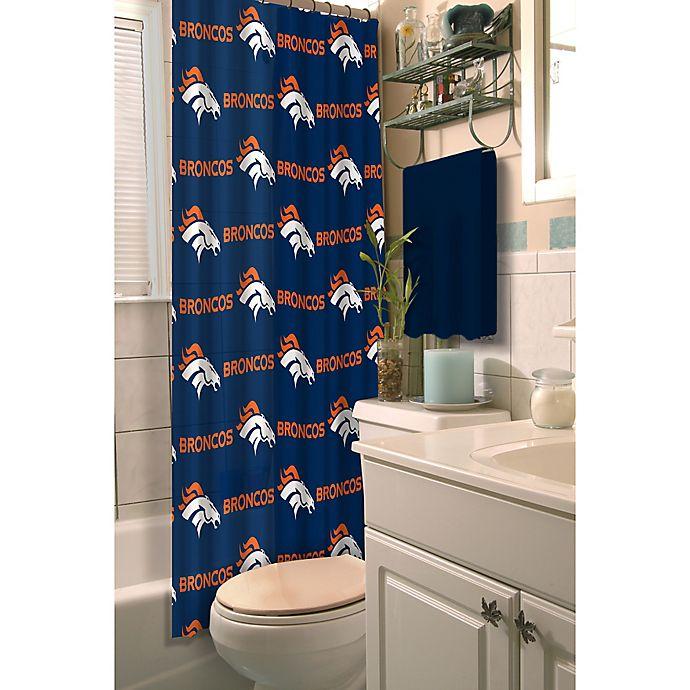 Alternate image 1 for NFL Denver Broncos Shower Curtain