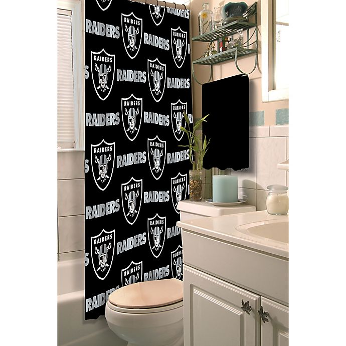 Nfl Oakland Raiders Shower Curtain