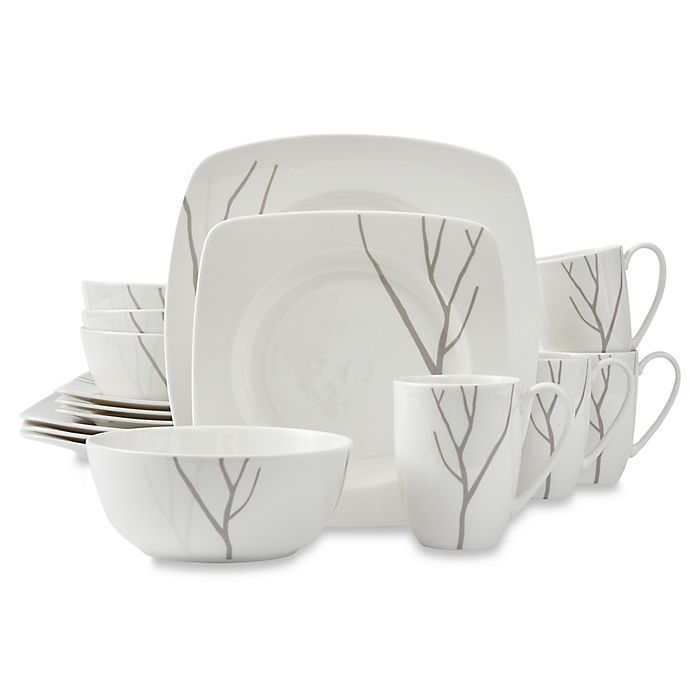 Alternate image 1 for Lenox® Park City™ 16-Piece Square Dinnerware Set