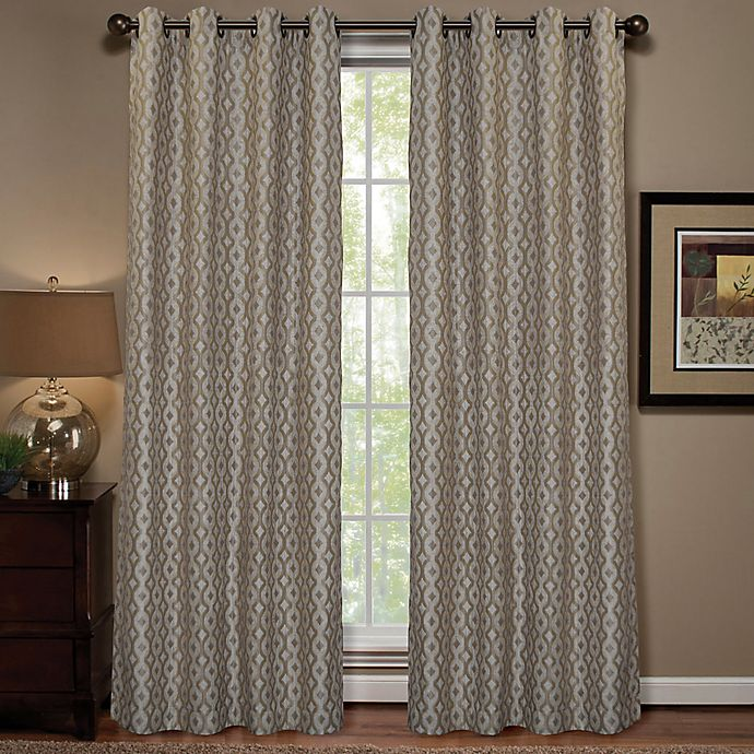 Alternate image 1 for Anello 84-Inch Grommet Top Window Curtain Panel in Ivory