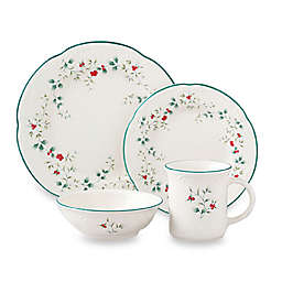 pfaltzgraff winterberry dinnerware collection - Christmas China Sets