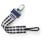 Chicco® NaturalFit™ Fashion Pacifier Clip in Black Gingham