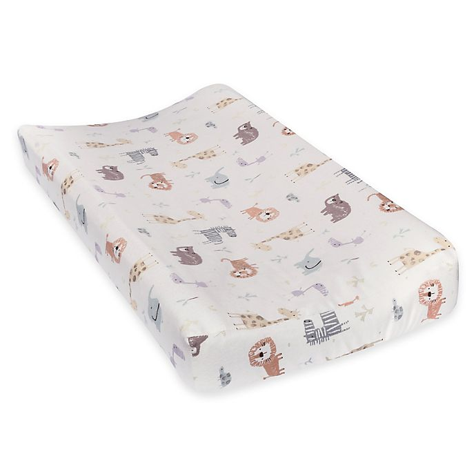 Alternate image 1 for Trend Lab® Crayon Jungle Deluxe Flannel Changing Pad Cover