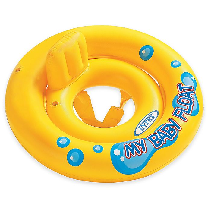 Alternate image 1 for Intex® My Baby Float with Pillow Backrest in Yellow