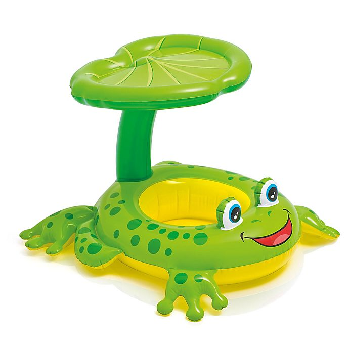Alternate image 1 for Intex® Froggy Friend Baby Float with Leaf Sunshade in Green