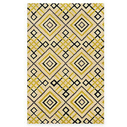 Rizzy Home Bradberry Downs Diamond Tile 2-Foot 6-Inch x 8-Foot Runner in Ivory