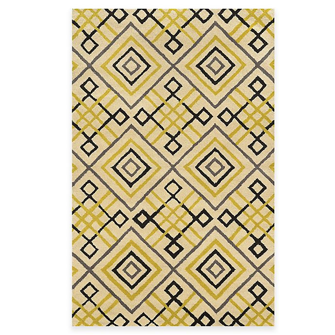Alternate image 1 for Rizzy Home Bradberry Downs Diamond Tile 8-Foot x 10-Foot Area Rug in Ivory