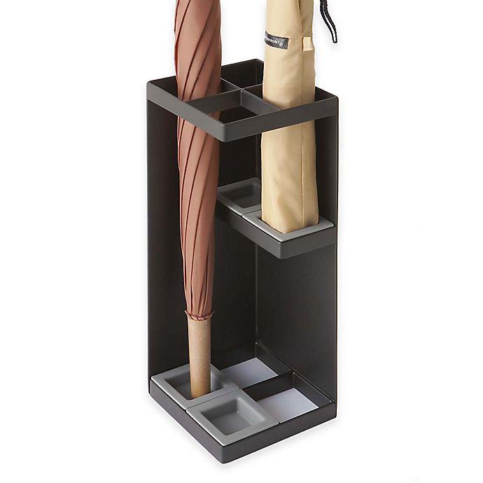 Alternate image 1 for Yamazaki Home Smart Umbrella Stand in Black