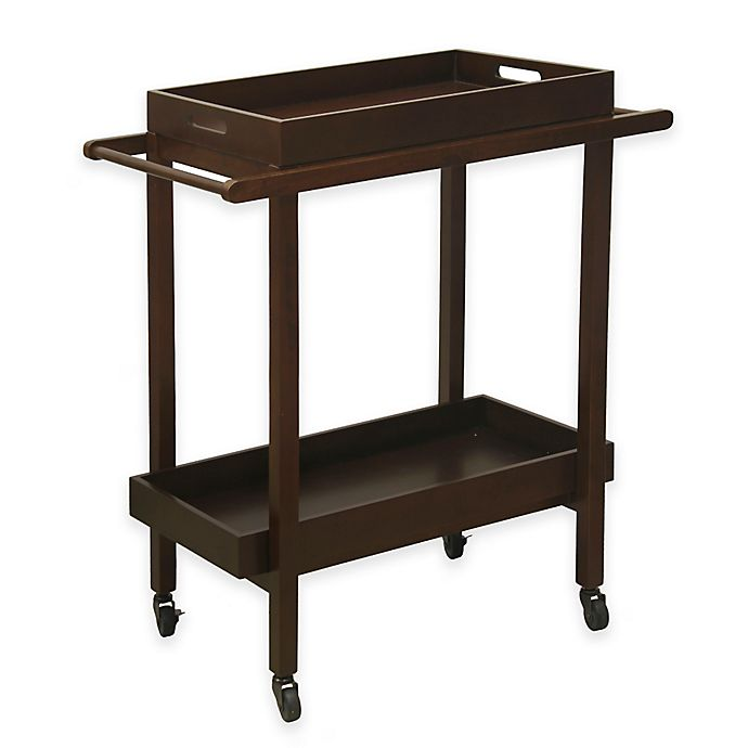 Alternate image 1 for Darcey Wooden Serving Cart