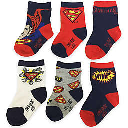 dc comicswarner bros 6 pack superman socks in