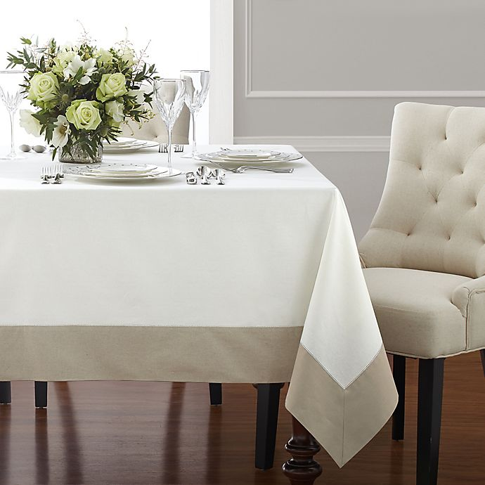Wamsutta 174 Bordered Linen Tablecloth Bed Bath And Beyond