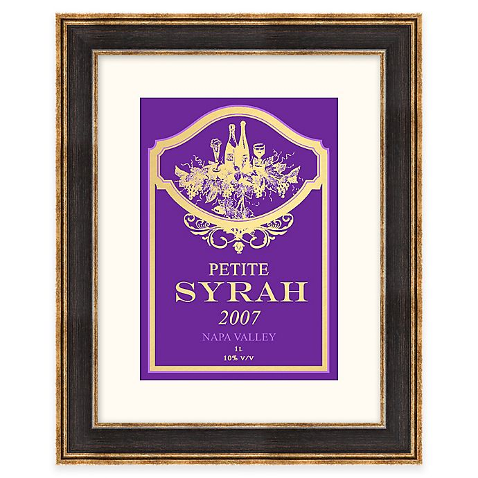 Kitchen Wall Decor Bed Bath And Beyond: Syrah Wine Label Framed Wall Art