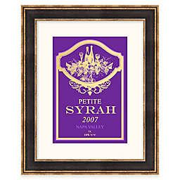 Syrah Wine Label Framed Wall Art