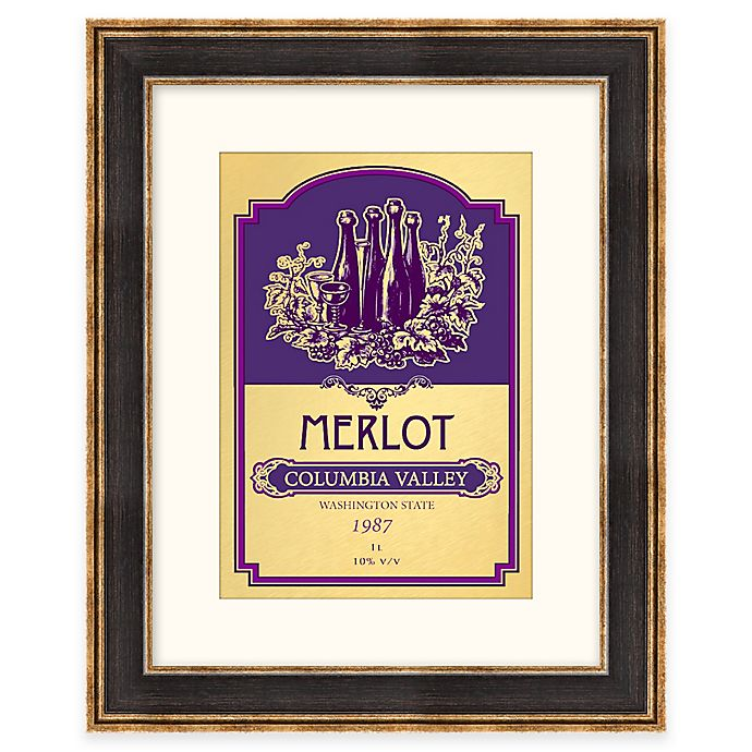 Alternate image 1 for Merlot Wine Label Framed Wall Art