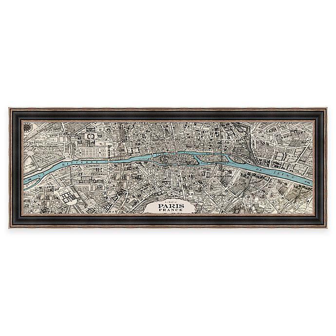 Vintage Map Of Paris Framed Wall Art Bed Bath Beyond