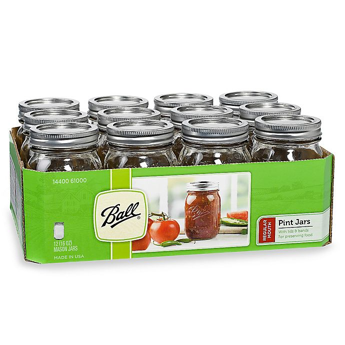 4accfd8af1b4 Ball® Regular Mouth 12-Pack Glass Canning Jars | Bed Bath & Beyond