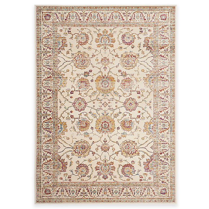 Alternate image 1 for Safavieh Sevilla Traditional Border 5-Foot 3-Inch x 7-Foot 6-Inch Area Rug in Ivory/Multicolor
