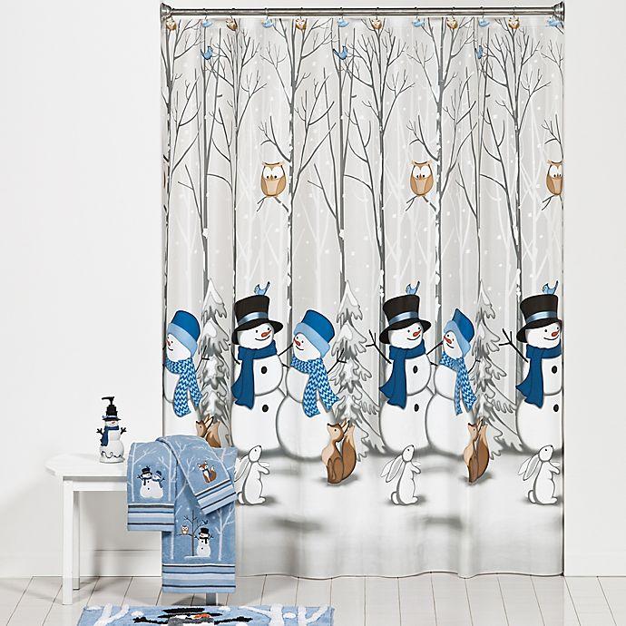 Winter Friends Shower Curtain And Hooks Set