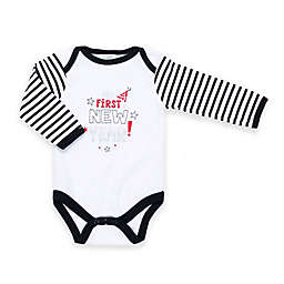 "Cutie Pie® ""First New Year!"" Long Sleeve Bodysuit in White"
