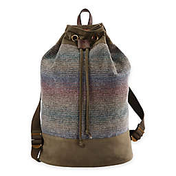Pendleton® Twill Duffle Backpack in Yakima Camp Stripe
