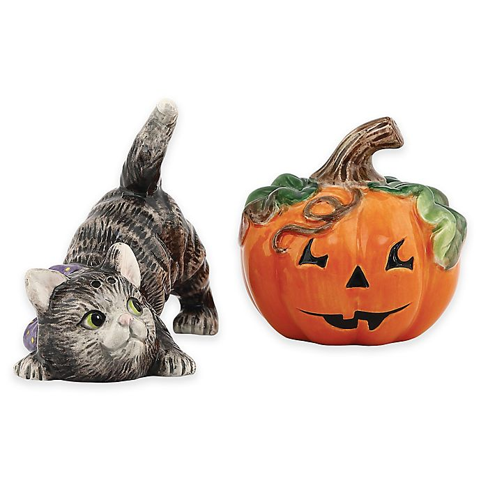 Alternate image 1 for Fitz and Floyd® Halloween Kitty Salt and Pepper Shakers