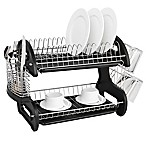Home Basics® 2-Tier Dish Drainer in Black