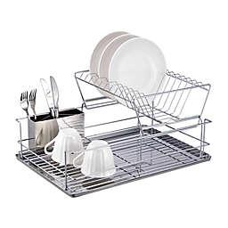 Home Basics® 2-Tier Dish Drainer