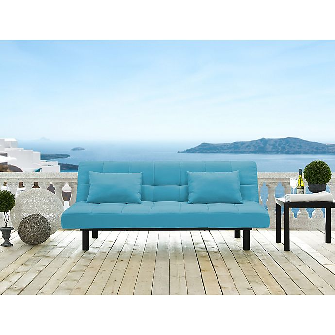 Marvelous Serta Dream Convertibles St Lucia Sofa In Emerald Glaze Gmtry Best Dining Table And Chair Ideas Images Gmtryco