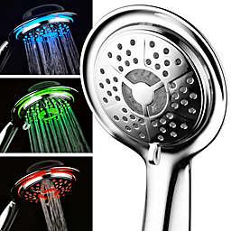 Aqua Spa® Luxury LED Color-Changing Air Turbo Handheld Showerhead in Chrome