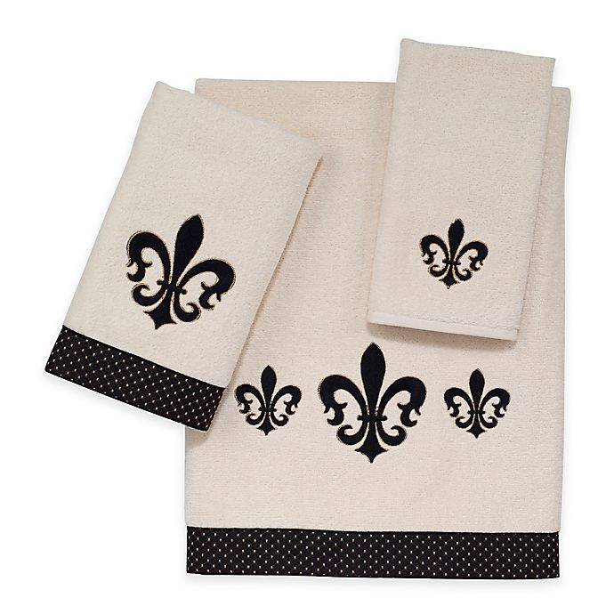 Alternate image 1 for Avanti Luxemborg Fleur De Lis Fingertip Towel