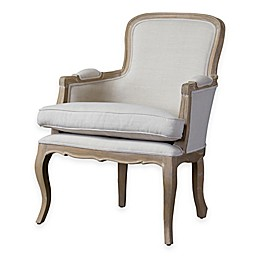 Baxton Studio Napoleon Traditional French Accent Chair in White