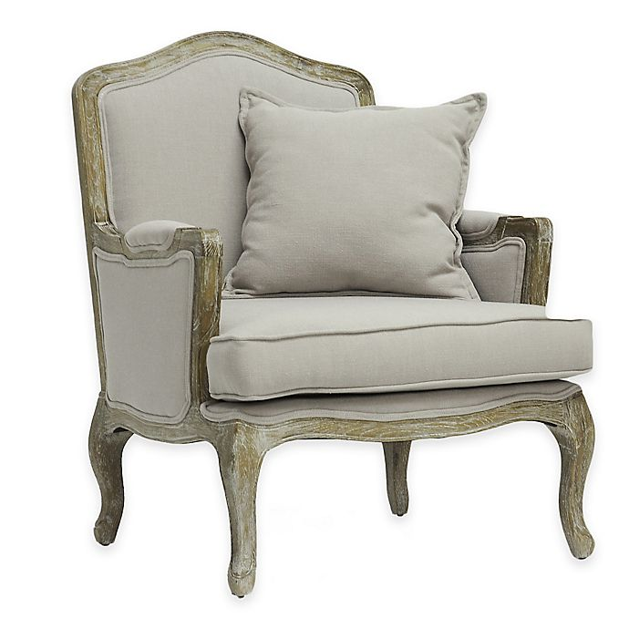 Alternate image 1 for Baxton Studio Constanza Classic Antiqued French Accent Chair