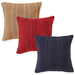 Dublin Knit Square Throw Pillow