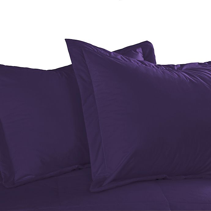 Alternate image 1 for Cotton Dream Colors Tailored King Pillow Sham in Fig