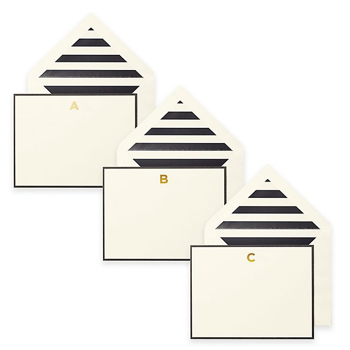 Alternate image 1 for kate spade new york Letter Correspondence Cards (Set of 10)