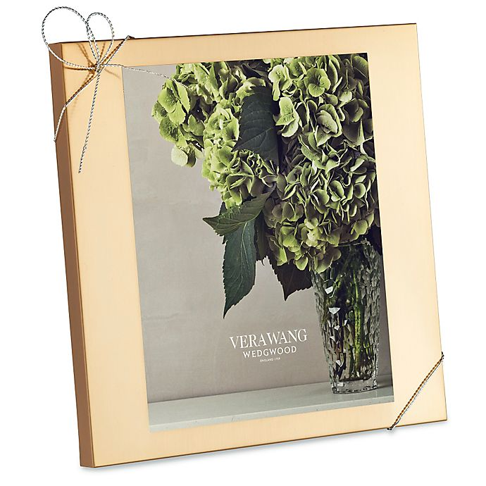 Alternate image 1 for Vera Wang Wedgwood® Love Knots Gold 8-Inch x 10-Inch Picture Frame