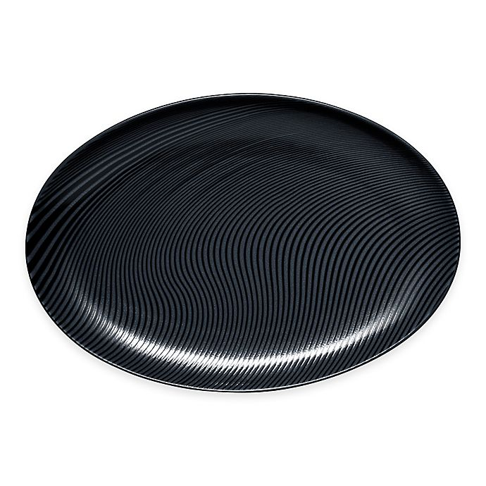 Alternate image 1 for Noritake® Black on Black Dune Oval Platter